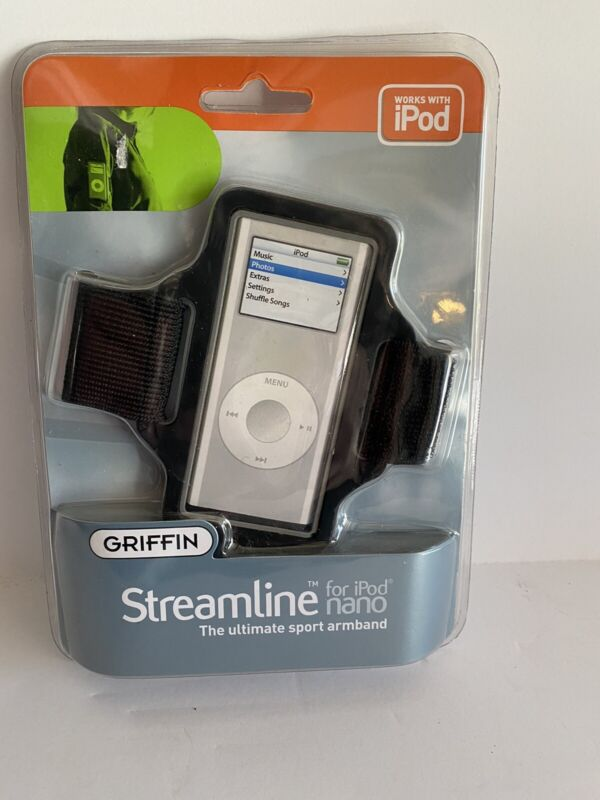 SPORT Armband BLACK Case Streamline for iPod Nano by Griffin