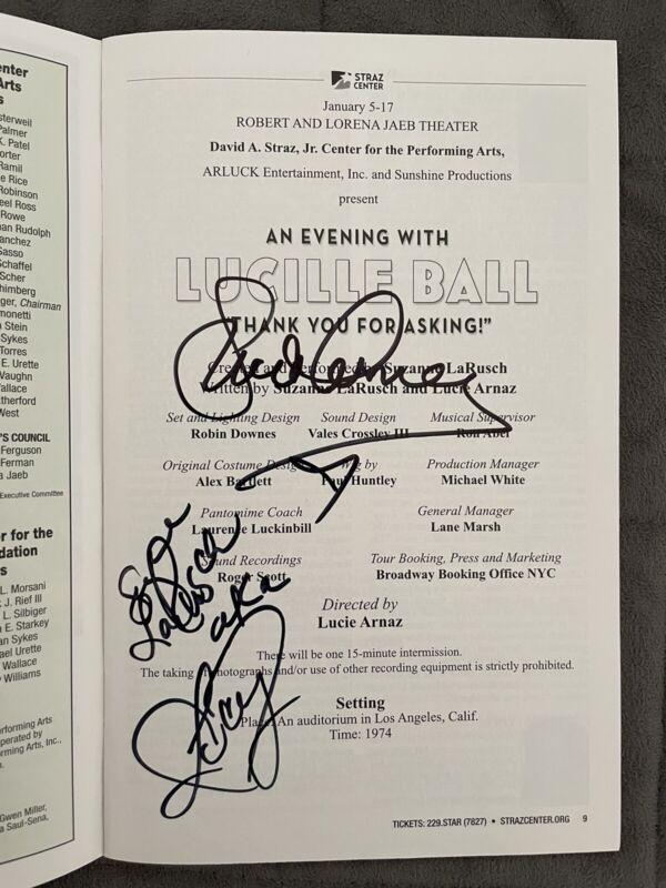 An Evening with Lucille Ball Center Bill with Lucie Arnaz