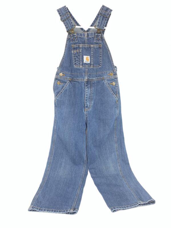 Carhartt Kids Boy/Girl Bib Overalls Master Cloth Sanforized 100% Cotton Size 7