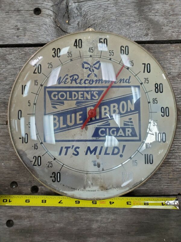 Vintage round advertising thermometer