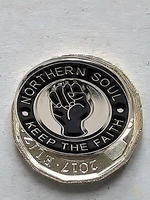 NORTHERN SOUL KEEP THE FAITH  PIN  BADGE