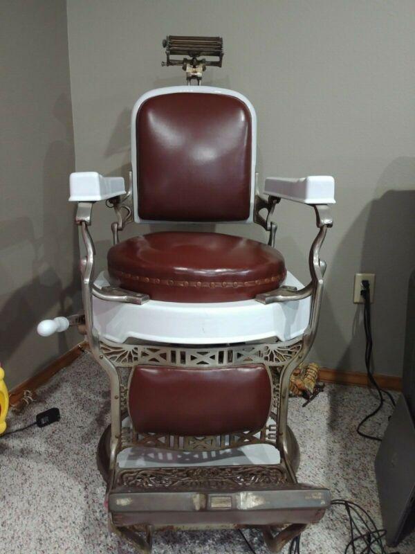 Koken antique barber chair. Great shape. Working hydraulics. Porcelain & nickel.