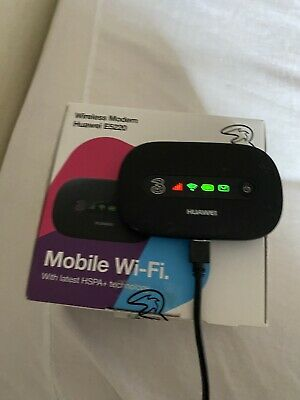 Huawei E5220 21Mbps 3G HSPA+ mobile broadband WiFi hotspot BLACK