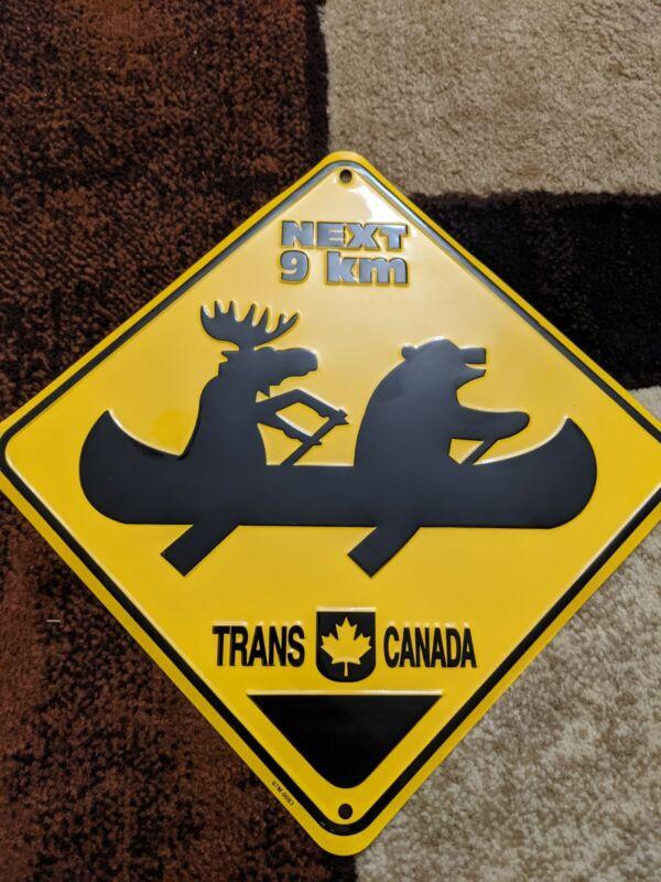 MOOSE CROSSING TIN SIGN - TRANS CANADA