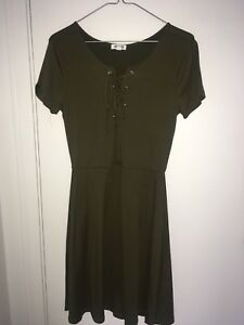 Olive Green Ardennes dress S