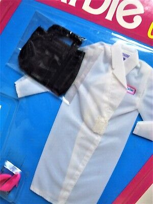 Vtg Barbie 90s COOL CAREER FASHIONS Doll Clothes 1991 5793 Doctor Set MOC NOS