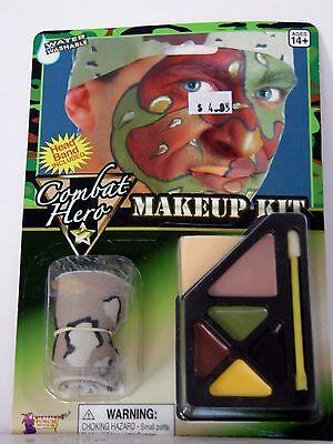 Camo Makeup Halloween (Combat Hero Makeup Camo Water Washable Trick or Treat Halloween)