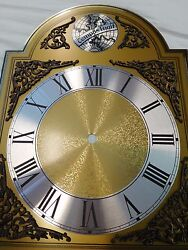 Tempus Fugit Grandfather Clock Dial Beautiful NOS Solid Brass 13 x 10 Perfect