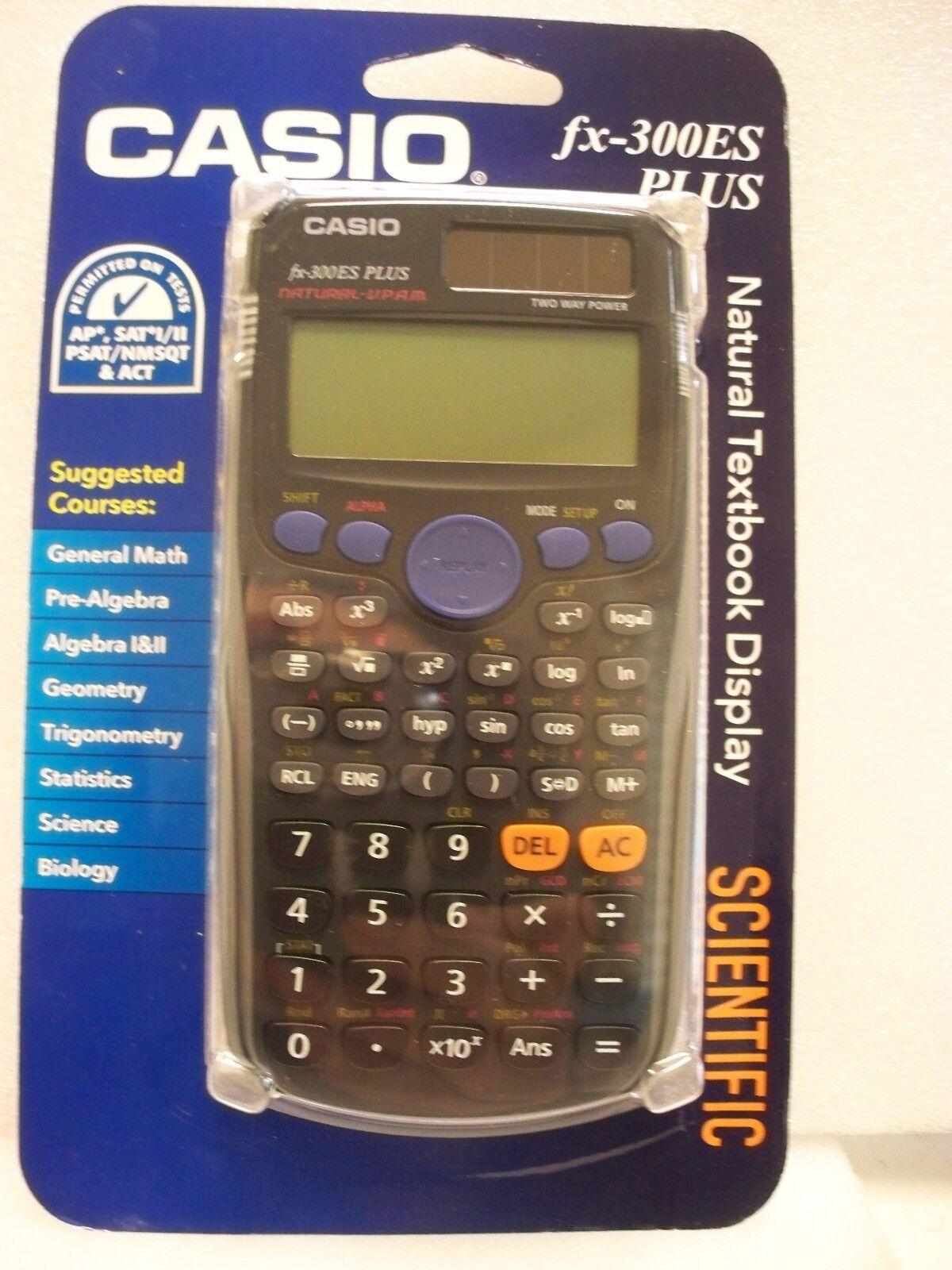 Casio,  FX-300es PLUS,  Scientific Calculator,  300BK-BTS15,  BLACK