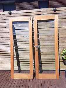 External double timber and glass doors Erina Gosford Area Preview