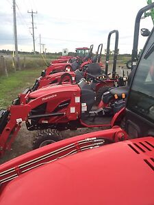 Mahindra tractors. Farm show special with snow blowers.