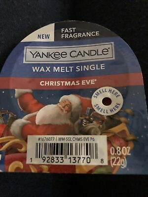 Yankee Candle Wax Melt Single CHRISTMAS EVE FRAGRANCE