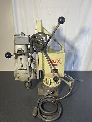 Bux Magnetic Drill Base Model Dh 34 Rp 110 Volt Porter Cable Motor