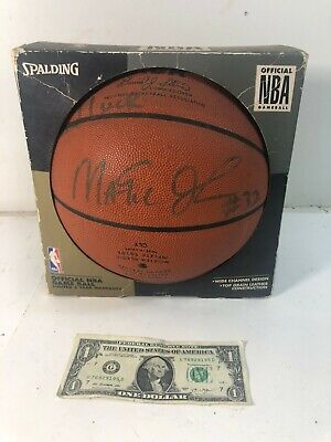 48a56af22d0 Magic Johnson Autographed Official NBA Game Ball Basketball