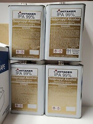 99 Isopropyl Rubbing Alcohol Case 4 Gallons Total Fast Free Shipping 4galon
