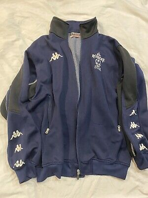 Vintage KAPPA Italy Warm Up Track Soccer Football Jacket  Size M Roanoke Star