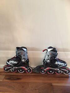 Roller - patins roues alignées enfants - taille ajustable 11 à 1