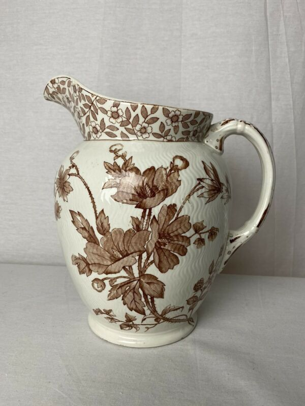 VINTAGE RIDGWAYS STOKE ON TRENT CHESTER Large PITCHER Rd.