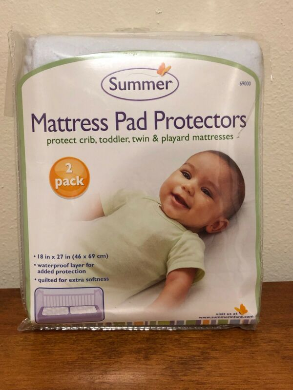 Summer Mattress Pad Protectors 2 Pack New