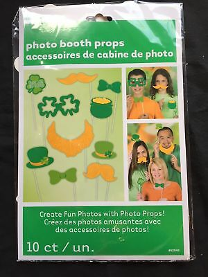 10 x St Patricks Photo Booth Face Photo Props Party Activity Ideas Irish Fun