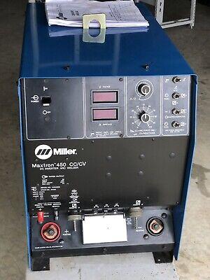 Miller Maxtron 450 Dc Multi Process Mig Tig Stick Arc Welder Inverter Unused