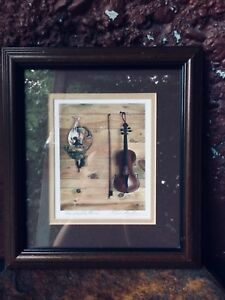 Violin Print 'Les Vieillie Townes' by Elsie Nowlan - Signed