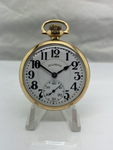 1922 ILLINOIS GRADE 806 MODEL 9 POCKET WATCH 16S 21J 3P 20 Year GF SEE VIDEO
