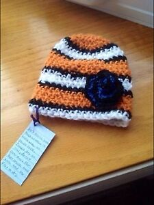 Adorable crochet nemo hats with or without dory flower