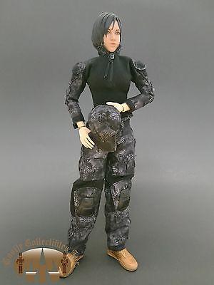 Black Python Camo Combat Suit For 1 6 Female Figure