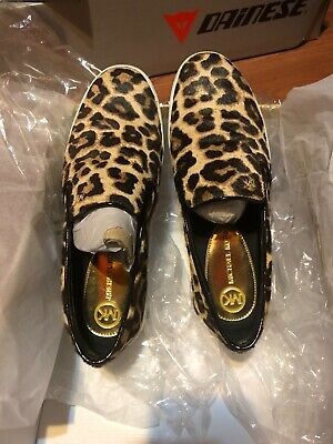 michael kors keaton slip on sneakers size 6.5 printed hair calf natural