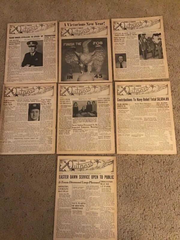 The Key Outpost WWII US Naval Operating Base Key West FL Base Newspaper Lot (7)