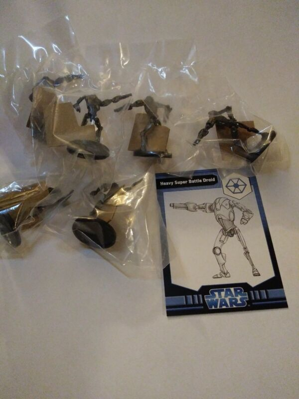 Star Wars Miniatures The Clone Wars Heavy Super Battle Droid #27 New w/card lot