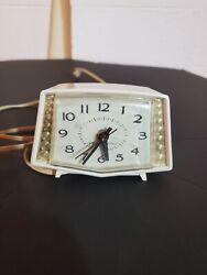 Vintage Mid Century Modern GE Alarm Clock 1950s Retro VTG Mod Styling Turns On!