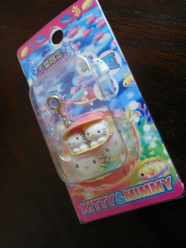 SANRIO ** Hello  Kitty ** Keychain ** *{  KITTY  &  MIMMY  } ** Free  Shipping