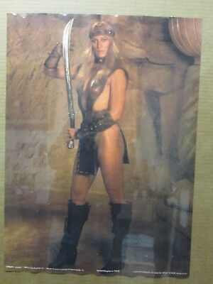Conan 3 1982 Sandahl Bergman as Valeria Vintage Poster movie Inv#2959