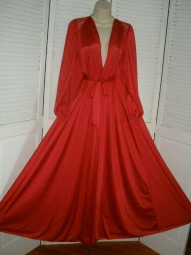 Vintage Olga Size S Red Style # 9788 Long Robe