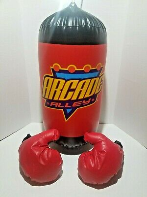 Inflatable Punching Gloves ( Arcade Alley Youth Inflatable Weighted Punching Bag With Gloves)