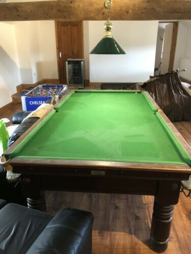 3/4 snooker table, solid Mahogany, Two piece solid slate base