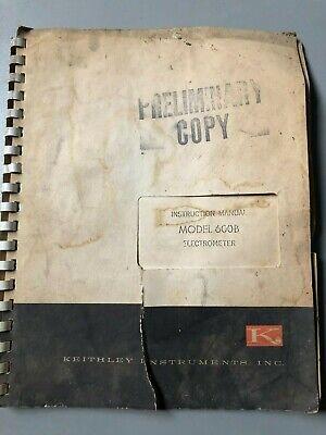 Keithley Instruments Instruction Manual Model 600b Electrometer