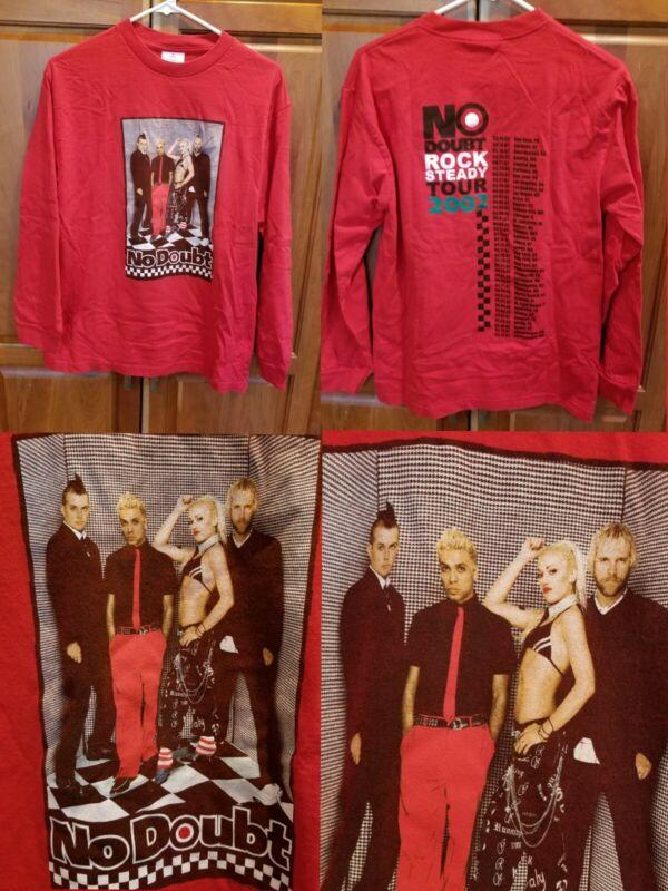 Vtg No Doubt Rock Steady 2002 Tour Concert LS Ska Pop Band Shirt M Gwen Stefani