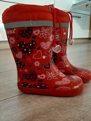 Bama Gummistiefel Rot Mädchen, total süß mit Herz, - Mädchen Stiefel Rot