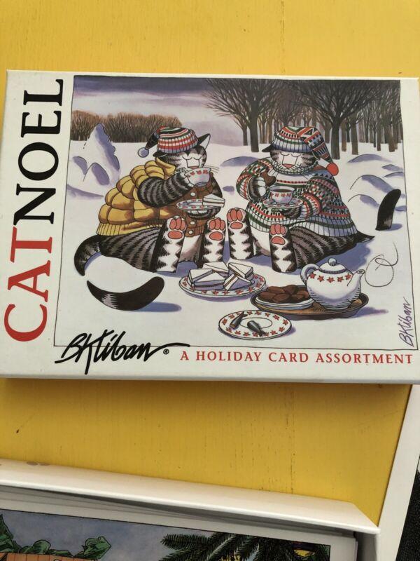 B. Kliban CAT NOEL Christmas Holiday Cards 4 Designs 15 Cards & Envelopes CATS