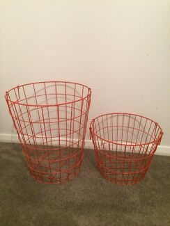 2 x Kmart Wire Laundry Baskets