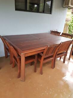 Timber Outdoor Dining Table And Chairs