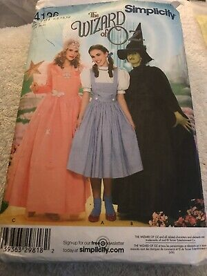 Bad Witch Wizard Of Oz Costume (Wizard of Oz Simplicity Pattern 4136 Size 6-12 Dorothy Glinda Good Bad)