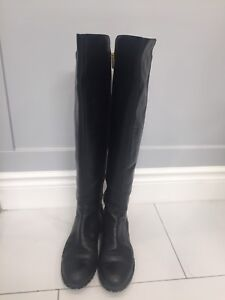 Michael Kors Bromley Tall Black Leather Boots