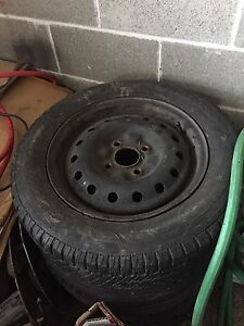 Winter rims 4x100 and 205 60 15 tires