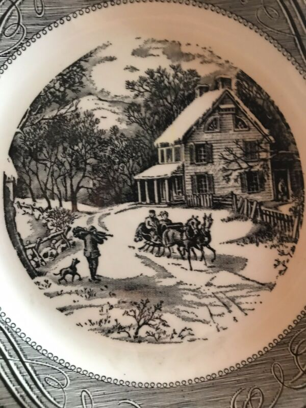 "Royal China Jeannette Blue & White Pie Plate 10"" New Old Stock Free Shipping 2 U"