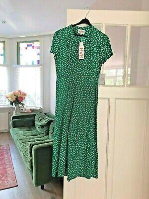 HVN Long Morgan Silk Dress -Green- New With Tags- Sz8.UK12(M)