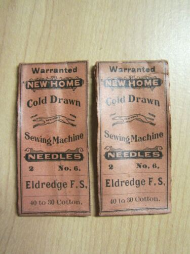 4 National, Eldredge, Vindex, Paveway 20x1 Sewing Machine Needles, #6 /  Size18